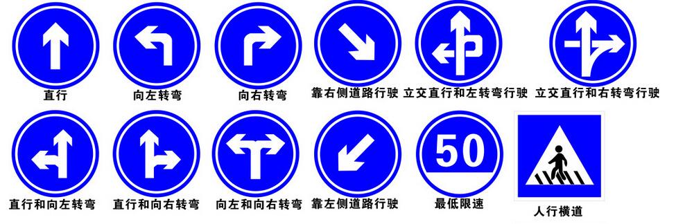 1、事故易发路段标志 (事故易发路段) 用以告示前方道路为事故易发路段,须谨慎驾驶,此标志设在交通易发路段以前适当位置。 2、慢行标志(慢行)用以促使车辆驾驶员减速慢行,此标志设在前方需要减速慢行的路段以前适当位置。 3、施工标志 (施工) 用以告示前方道路施工,车辆应减速慢行或绕道行驶,此标志可作为临时标志设在施工路段以前适当位置。 4、注意信号灯标志,此标志设在驾驶员不易发现前方为信号灯控制的路口前适当位置。 5、注意落石标志(注意落石)此标志设在有落石危险的傍山路段之前适当位置。 6、双向交通标志(